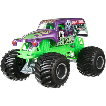 Hot Wheels Monster Jam Grave Digger  Purple