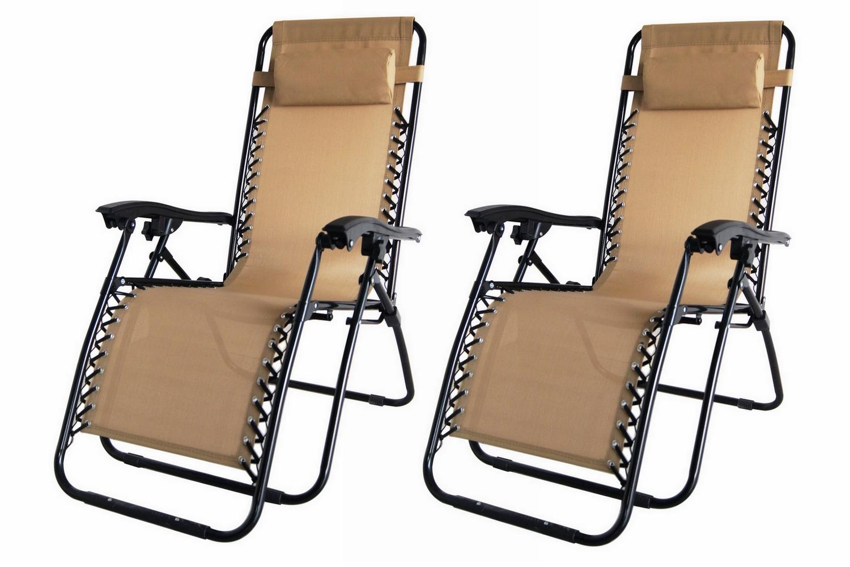 Outdoor anti gravity chair - 2x Palm Springs Zero Gravity Chairs Lounge Outdoor Yard Patio Chairs Beach Black Walmart Com