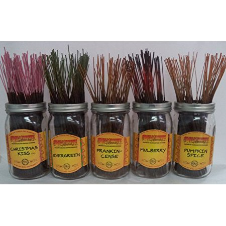 Wild Berry Incense Assorted Christmas Scents Set #3: 100 Sticks (20 each of 5 Scents) Wild Berry Incense Bundle
