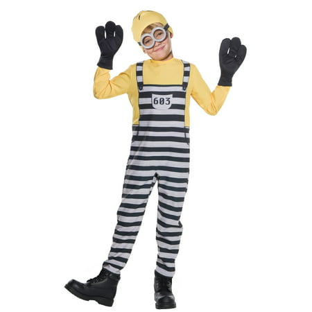 Boys Jail Minion Tom Costume - Jail Halloween Costume