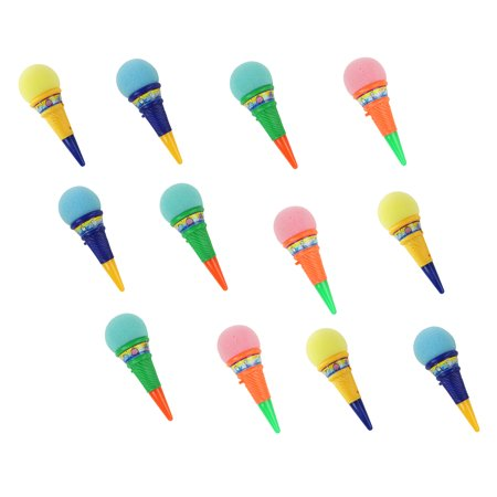 Squeeze Popper Ice Cream Foam Cone Launcher Gag Practical Joke, Prank for Kids, children, Great for Goodie Bags, Party Favors for Kids events and Birthday Parties, Assorted Colors! - Ice Cream Cone Decorations