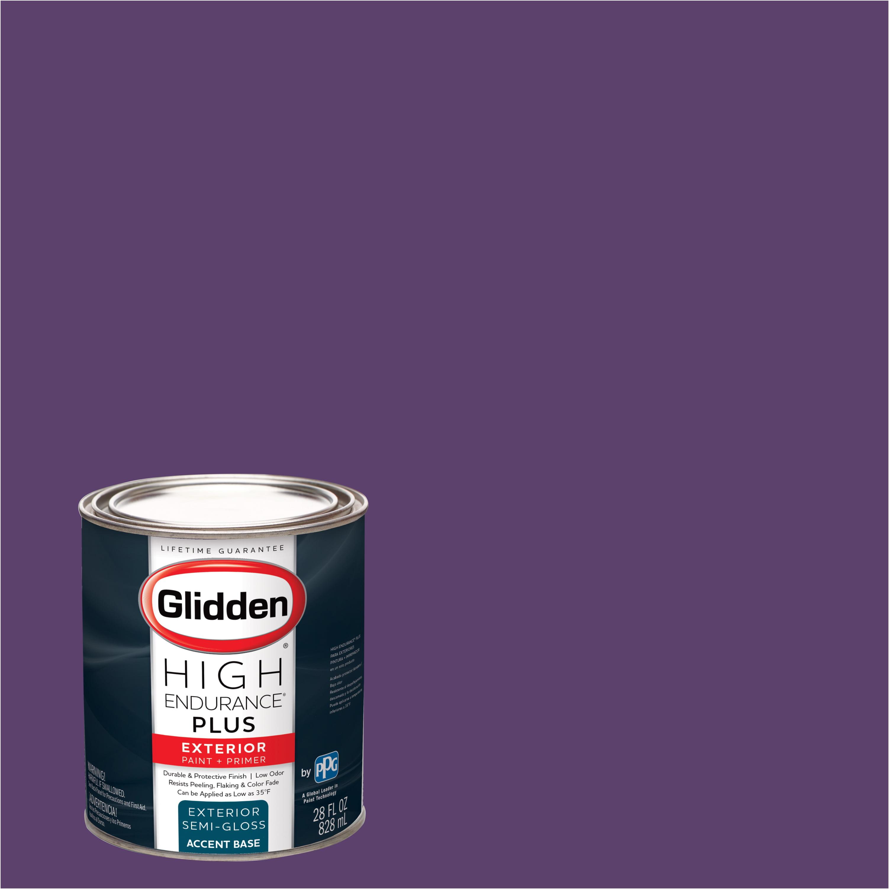 Glidden High Endurance Plus Exterior Paint and Primer, Regal Purple, #56RB 09/302