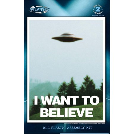 I Want to Believe 5 inch Lighted UFO Atlantis Model Kits, I want to Believe UFO Model kit Based on Billy Meier Photo #494 By Atlantis Toy and Hobby