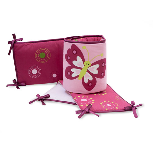 Bedtime Originals by Lambs & Ivy - Crib Bumper, Pink Butterfly