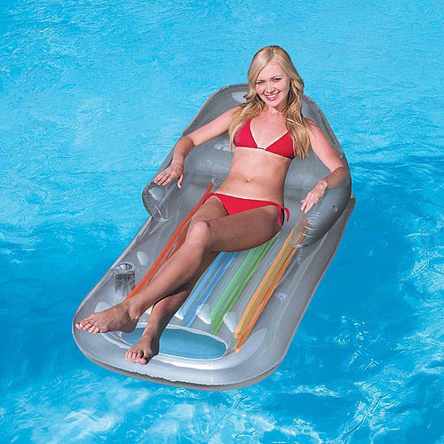 Splash and Play Designer Fashion Tanning Inflatable Pool Lounge