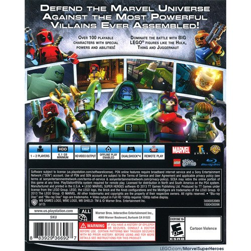 LEGO Marvel Super Heroes, Warner Bros, Playstation 4