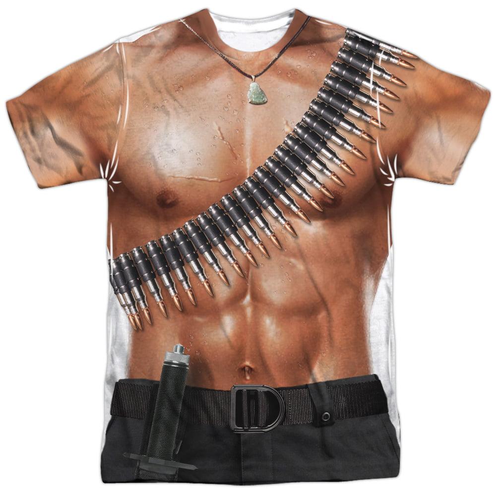 Rambo III Action Film Rambo Muscle Torso Costume Adult Fr...