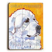 Artehouse LLC Great Pyrenees by Ursula Dodge Graphic Art Plaque