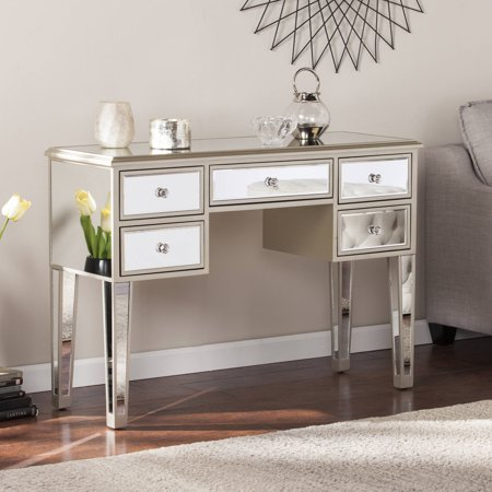 Southern Enterprises Illusions Collection Mirrored Entryway Console, Champagne w/ mirror