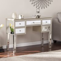 Southern Enterprises Illusions Collection Mirrored Entryway Console Champagne W Mirror
