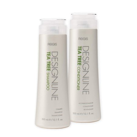 Tea Tree Shampoo and Conditioner Duo Pack, 10.1 oz - Regis DESIGNLINE - Helps Invigorate and Rehydrate Dry, Sensitive Scalps and Balances Hair and Scalp Oil for Shine, Softness, and Manageability