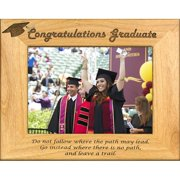 Giftworks Plus SCH0006 Congrats Grad - Leave A Trail, Alder Wood Frame, 5 x 7 In