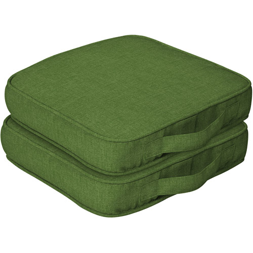 Mainstays Outdoor Dining Seat Cushion with Handle