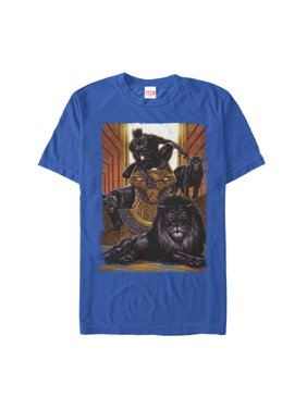 db06d1524 Product Image Marvel Men's Black Panther Jungle Cats T-Shirt