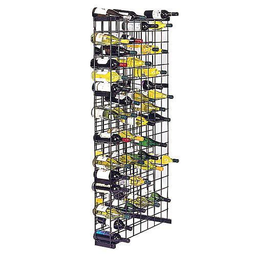 Black Metal Lattice 152-Bottle Storage Wine Rack