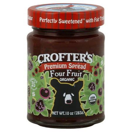 Crofters Four Fruit Organic Premium Spread, 10 Oz (Pack of 6) - Organic Jello