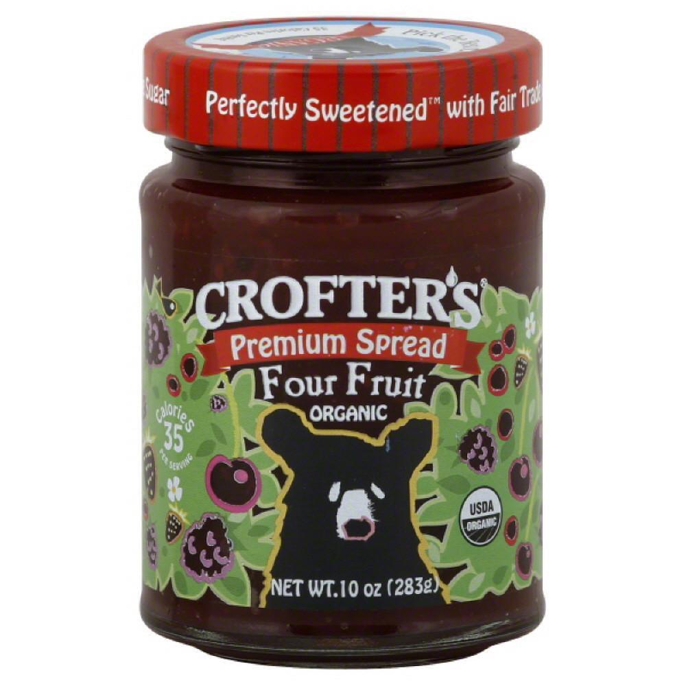 Crofters Four Fruit Organic Premium Spread, 10 Oz (Pack of 6)
