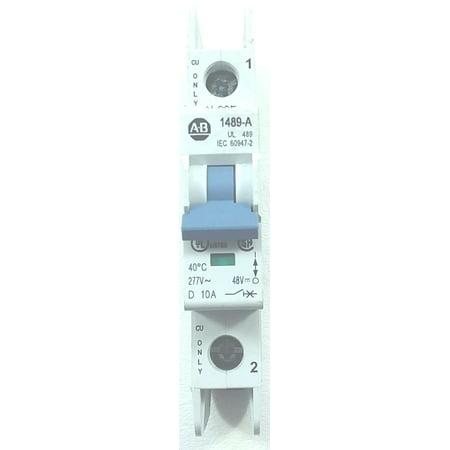 used A-B 1489-A1D100 10KAIC 10A 1P 240V mini DIN rail circuit (Din Rail Breaker)