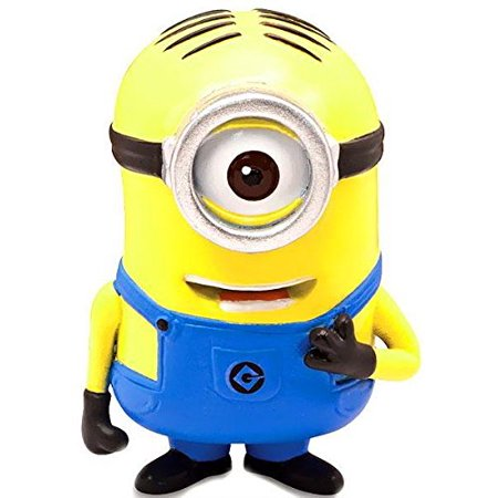 2 - Minion Stuart - Poseable Figure, Aprox Size: 2 Tall By Despicable Me From USA (Tall Minion)