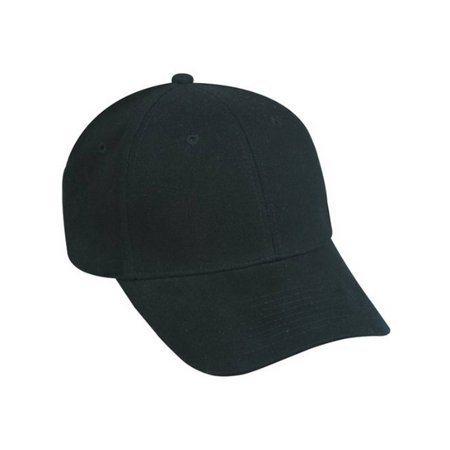 Flex Fitted Baseball Cap Hat- Black