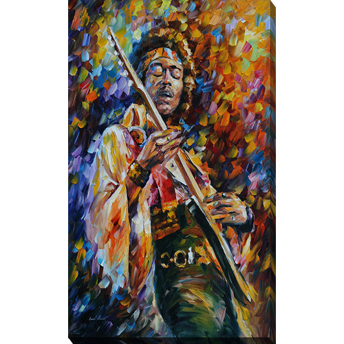 Picture Perfect International ''Jimi Hendrix'' by Leonid Afremov Painting Print on Wrapped Canvas