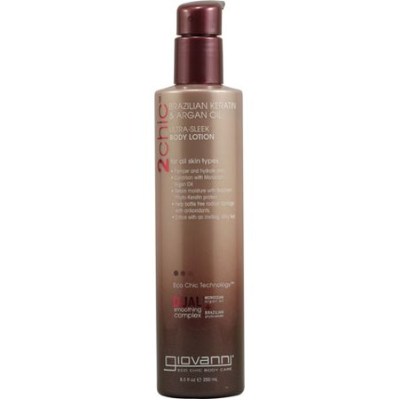 Giovanni Lotion (Giovanni 2chic Ultra-Sleek Body Lotion Brazilian, Keratin & Argan Oil, 8.5 Oz)