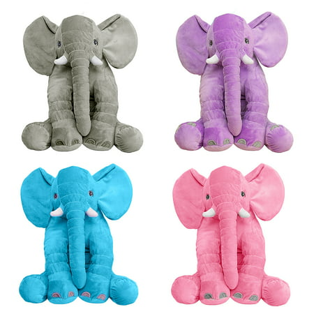 - Elephant Pillow Soft Plush Lovely Cute Long Nose Baby Sleeping Pillow Kids Children Lumbar Cushion Stuffed Doll Birthday Toy Gift