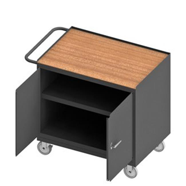 Durham 3113-TH-95 36 in. 14 Gauge Mobile Bench Cabinets, Gray