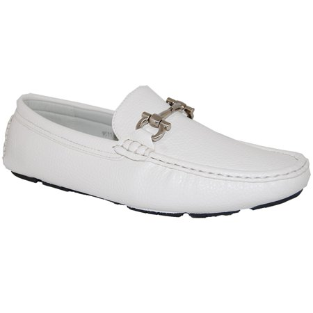 - AMERICAN SHOE FACTORY WoW White Leather Lined Upper Slip Ons, Men