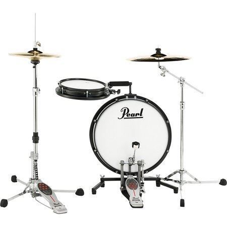 "Pearl PCTK1810 Compact Traveler 2-Piece Drum Kit w/ Slim 18"" Bass Drum, 10"" Snare"