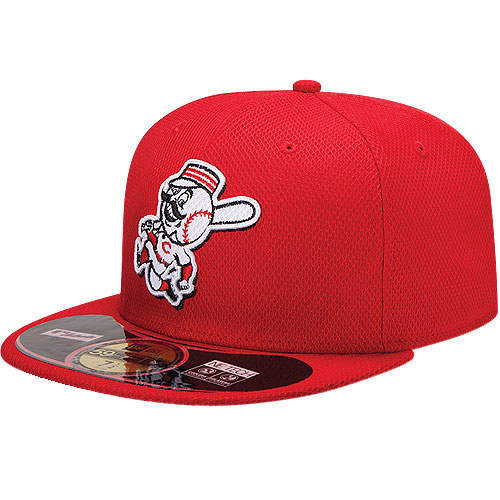 Cincinnati Reds New Era On Field Diamond Era 59FIFTY Fitted Hat - Red
