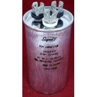 Dual Run Capacitor, Round, 30 + 5 Mfd., 370 Volt, CD30+5X370R