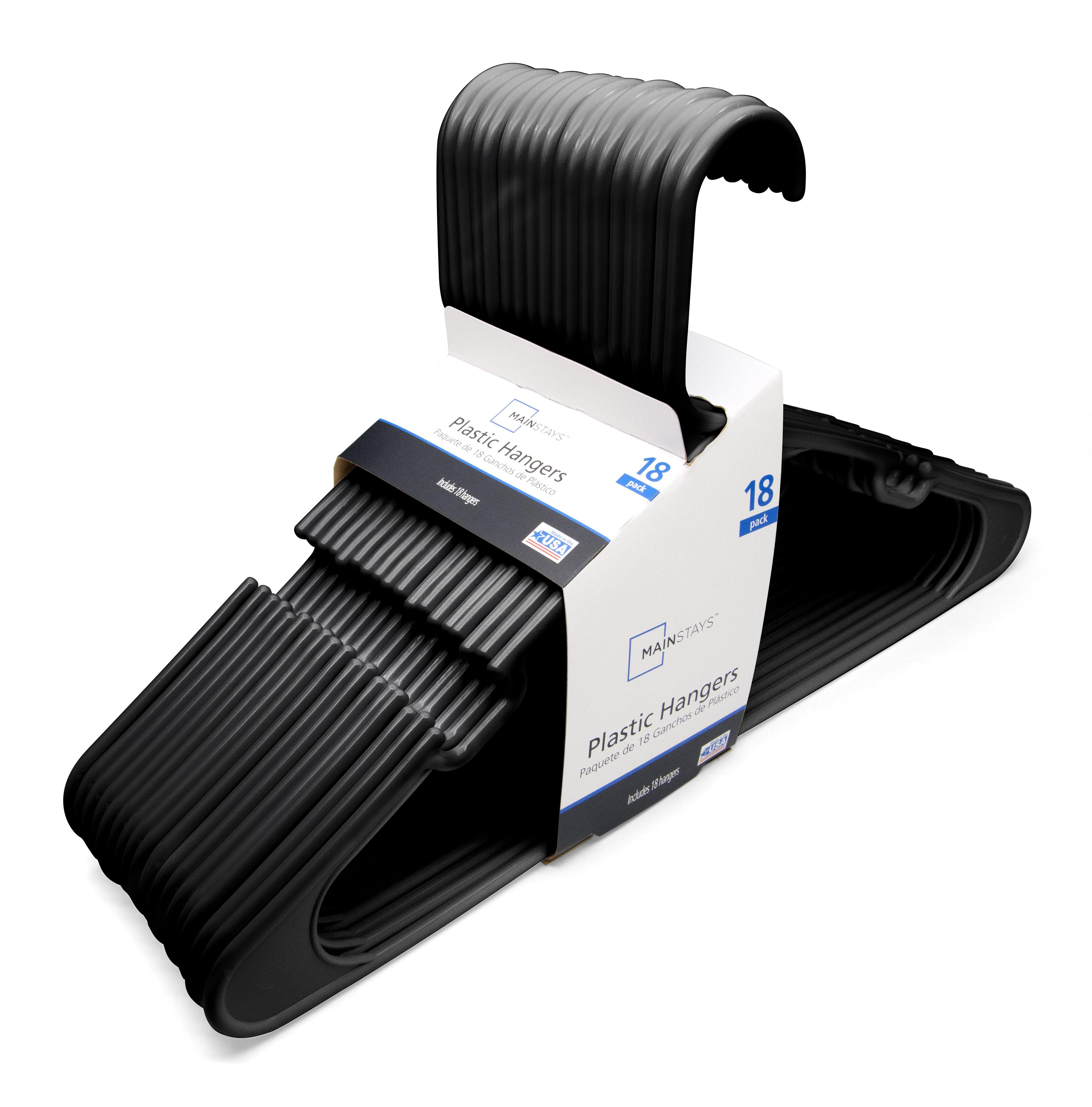 Mainstays 18 Pack Hangers - BLACK - Walmart.com