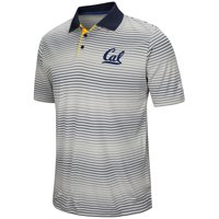 """California Golden Bears NCAA """"Number One"""" Men's Performance Striped Polo Shirt"""