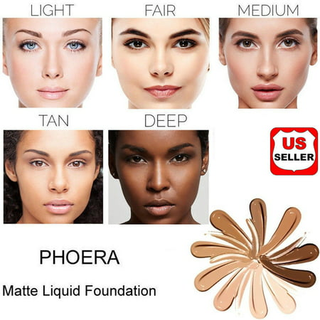 PHOERA Foundation Professional Makeup Full Coverage Fast Base Brighten long-lasting