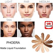 PHOERA Foundation Professional Makeup Full Coverage Fast Base Brighten long-lasting Shade