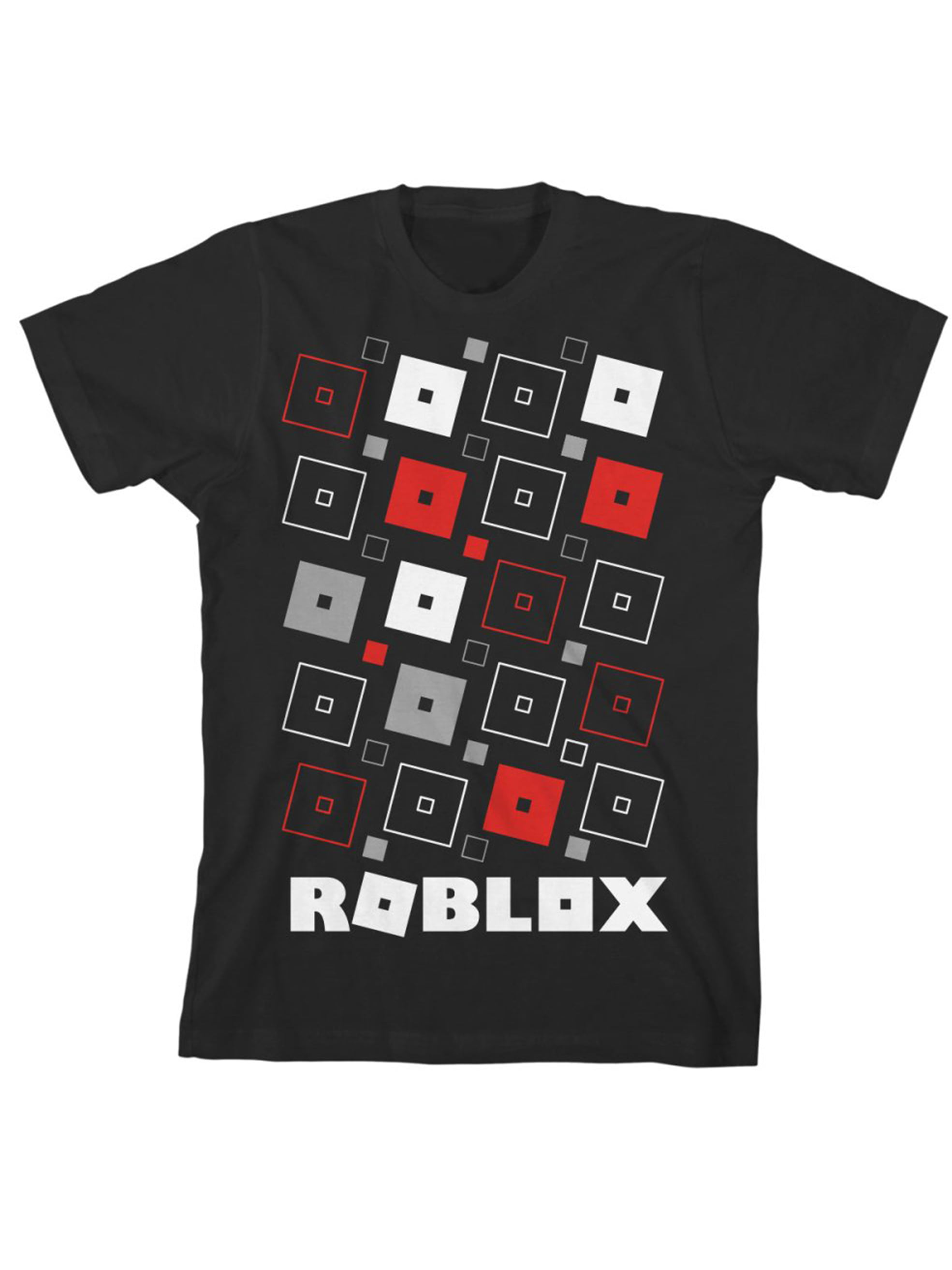 Roblox Black Roblox Logo Short Sleeve T Shirt Little Boys Big