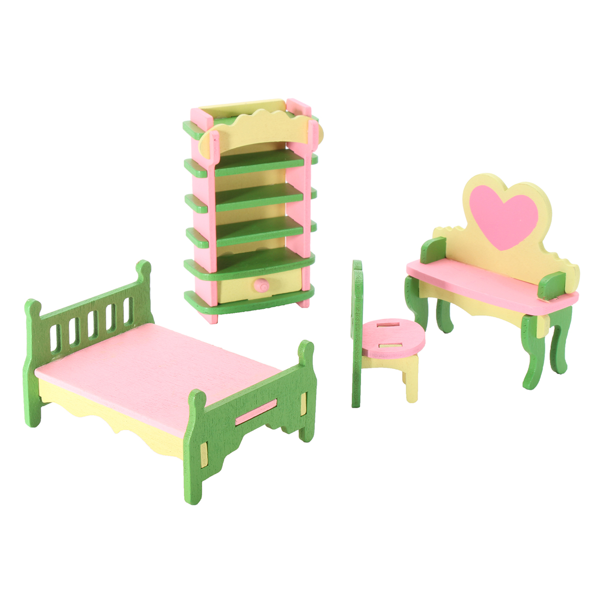 Dollhouse Miniature Painted Wooden Furniture Kid Toys, Perfect Childrenu0027s  Toy With Kitchen, Living Room, Bathroom And Maternal And Child Room Etc    Walmart. ...
