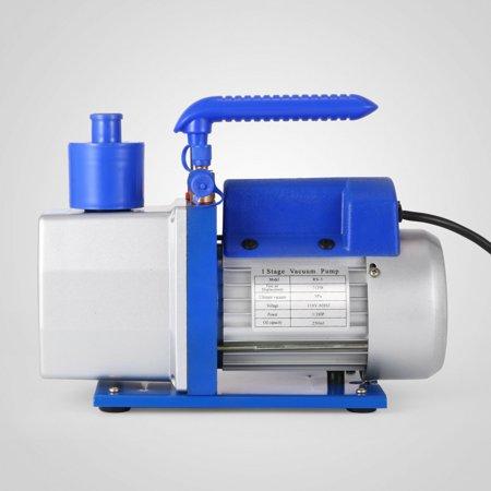 BestEquip Single Stage Vacuum Pump Rotary Vane 7CFM 1/2HP Deep HVAC AC Air Tool Black New
