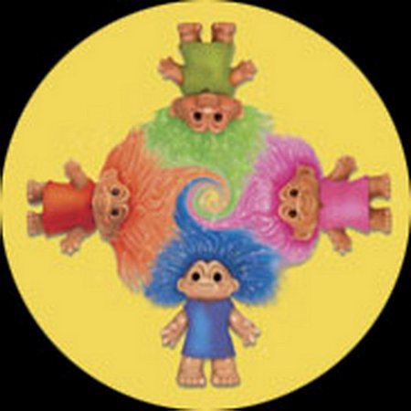 Trolls Four Yellow Background Button TB1857 (Troll Background)