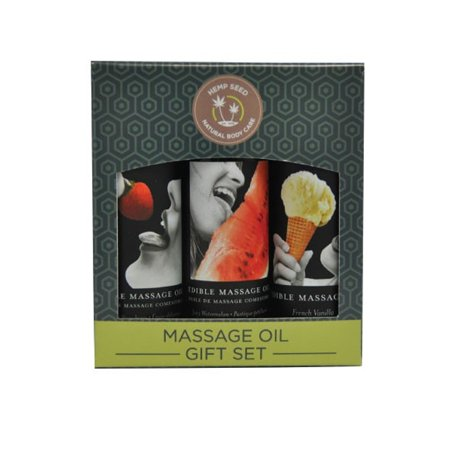 Earthly Body Edible Massage Oils Gift Set