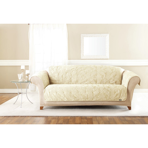 Delightful Sure Fit Matelasse Damask Sofa Pet Cover