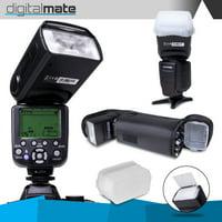 DigitalMate DM680EX E-TTL SpeedLight 18-180mm Power Zoom Flash, Bounce, Swivel, LCD Display and Case for Canon 80D 77D 70D 60D 60Da 50D 7D 6D 5D 5DS 1DS T7i T7s T7 T6s T6i T6 T5i T5 T4i T3i T3 SL2 SL1