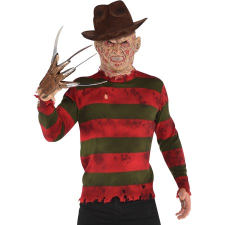 Women's Freddy Krueger Costume (Freddy Krueger Sweater for Adults, A Nightmare on Elm Street Halloween)