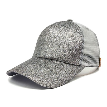 aa40640d0be Outtop 2018 Women Ponytail Baseball Cap Sequins Shiny Messy Bun Snapback Hat  Sun Caps - Walmart.com