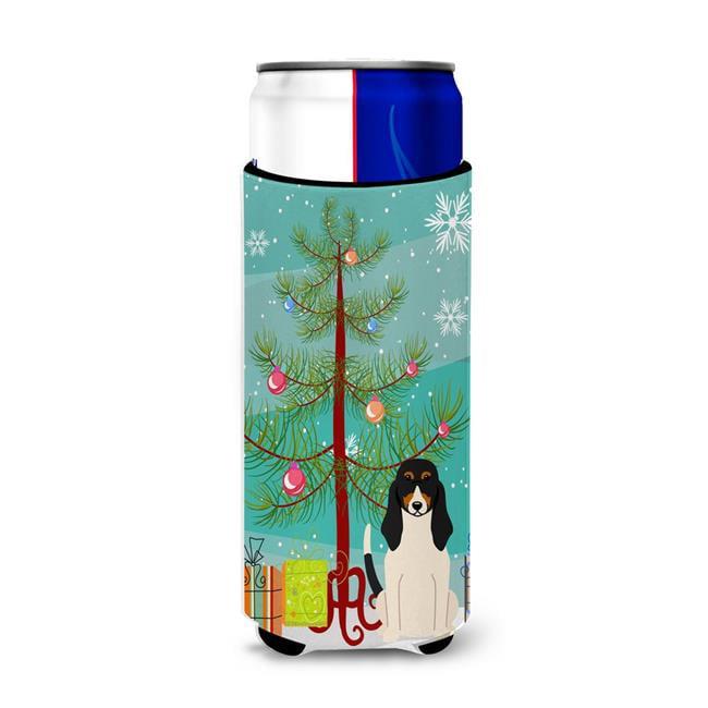 Carolines Treasures BB4169MUK Merry Christmas Tree Swiss Hound Michelob Ultra Hugger for Slim Cans - image 1 de 1