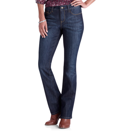Faded Glory Womens Basic Bootcut JeansAvailable in Regular and Petite Lengths