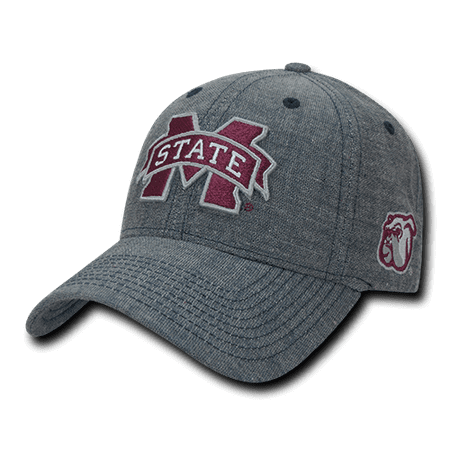 NCAA MSU Mississippi State U Bulldogs Cotton Structured Denim Caps Hats Blue