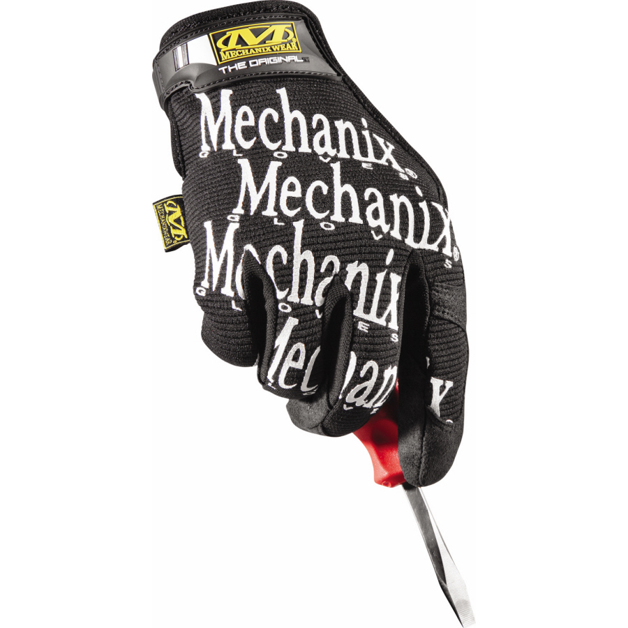 Mechanix Wear 2X Black The Original Full Finger Synthetic Leather Mechanics Gloves With Hook And Loop Cuff, Spandex Back, Synthetic Leather Palm And Fingertips And Reinforced Thumb