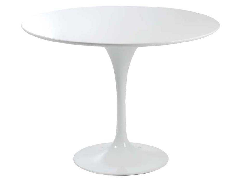 Eurostyle Astrid Round Pedestal Dining Table in White by Overstock